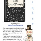 Winter Math Journal Prompts