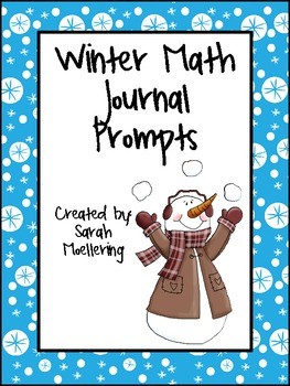 Winter Math Journal Prompts (Freebie!)