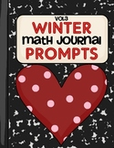 Winter Math Journal Prompts- Vol.3