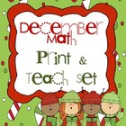 Winter Math Print & Teach Set - CCSS