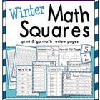 Winter Math Squares: Print & Go pages