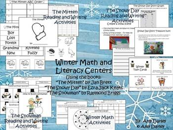 Winter Math and Literacy Centers