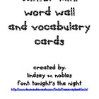 Winter Mini Word Wall and Vocabulary Cards