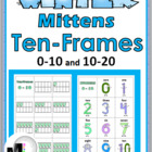 Winter Mittens Ten-Frames Matching Games - Numbers 0-10 and 10-20