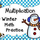 Winter Multiplication Math Practice