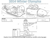 Winter Olympic Sight Word Roll and Color-First Grade-Theme 5
