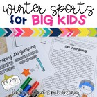 Winter Olympics ELA Activities for BIG KIDS! {Grades 3rd-5th}