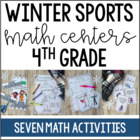 Winter Olympics Math Centers and Printables {4th Grade}