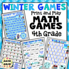Winter Olympics Math Games and Centers - 4th Grade