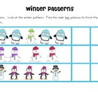 Winter Patterns Math Center Activity