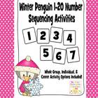 Winter Penguin 1 - 20 Number Sequencing Activities