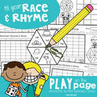 Winter Race and Rhyme - Print and Play Worksheets