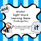 Winter Sight Word Game - Kindergarten