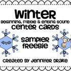 Winter Snowflake Beginning, Middle & End Sound Center Card