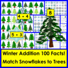 Winter Math Center Activities: Snowflakes Addition Center