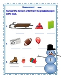Winter Snowman Measurement Sheet