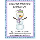 Winter Snowman Unit: sight words,10 frames, teacher book+