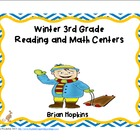 Winter Themed Common Core 3rd Grade Reading and Math Centers
