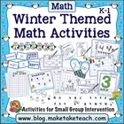 Winter Themed Math Activities for K-1