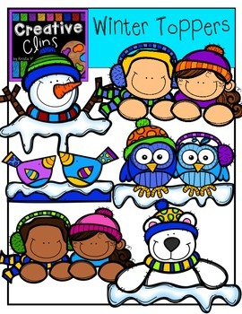 Winter Toppers {Creative Clips Digital Clipart}