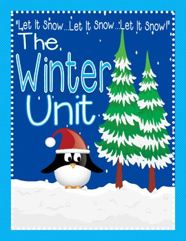 Winter Activities Unit: Winter Activities, Winter Centers, Winter Games