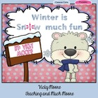Winter Unit  { literacy, math, art, center, common core aligned }