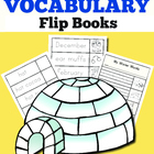Winter Vocabulary Words Flip Book: Trace, Cut, and Color