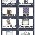 Vocabulary Word Cards: Winter