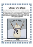 Winter Vocabulary Word Wall