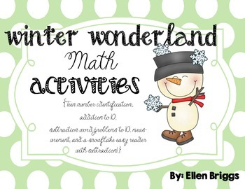 Winter Wonderland {Kindergarten Math Activities}
