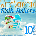 Winter Wonderland Math Stations {Common Core Aligned}