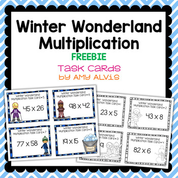 Winter Wonderland Multiplication Task Cards - FREE