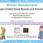 Winter Wonderland Open-Ended Game Boards and Activities fo