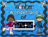 Winter Wonderland of (10) Centers 5 Math and 5 Literacy Centers