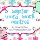 Winter Word Work Centres