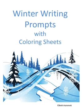 Winter Writing Prompts with Coloring Sheets