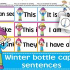 Winter sentences with bottle caps!
