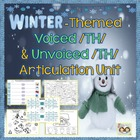 Speech Therapy: Winter themed /TH/ Articulation Packet