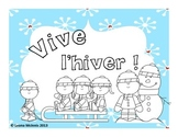 French Winter hiver vocabulary cards and game activity
