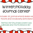 Winter/Holiday Journal Writing Center - 20 Journal Sheets!