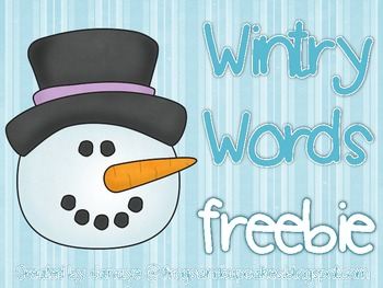 Wintry Words! Freebie