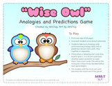 """""""Wise Owl"""" Analogies and Predictions Game: Speech Therapy"""