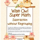 """Wise Owl Super Math"" Subtraction Without Regrouping - Com"