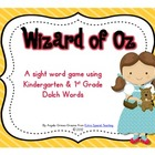 Wizard of Oz - A Sight Word Game