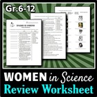 Women in Science - Review Worksheets