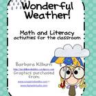 Wonderful Weather--Math and Literacy Fun for the Classroom