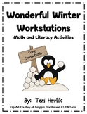 Wonderful Winter Workstations - Math and Literacy Activities