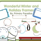 Wonderful Winter and Holiday FramesClip Art Set