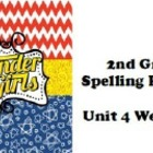 Wonders McGraw-Hill 2nd grade Spelling Unit 4 Weeks 1-5 Practice