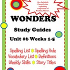 Wonders McGraw Hill Study Guides Unit #6 Grade 2 FREEBIE!
